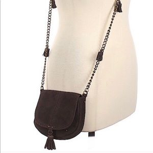 AE Suede Leather Tassel Chain Crossbody Mini Bag